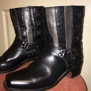 FRYE Harness Boots AMERICANA Limited - Black Rare!
